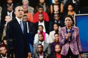 Nkepile Mabuse has many career highlights, including covering former US president Barack Obama's visit to African. Photo: Supplied