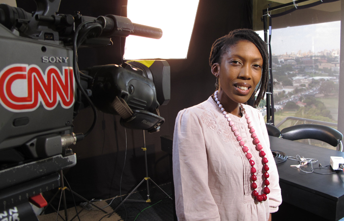 With a journalism degree from Wits University in her pocket, Nkepile Mabuse now works for CNN. Photo: CNN